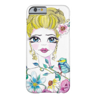Flowers in her hair barely there iPhone 6 case