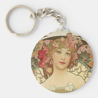Flowers in her Hair Keychain