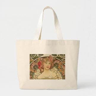 Flowers in her Hair Large Tote Bag