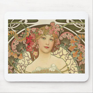 Flowers in her Hair Mouse Pad
