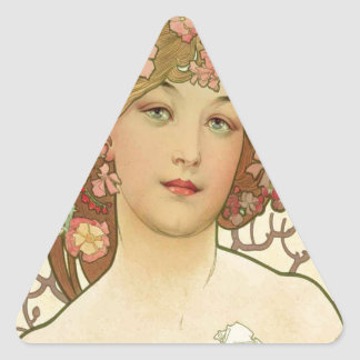 Flowers in her Hair Triangle Sticker