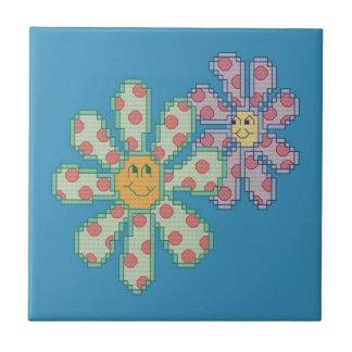 Flowers in Love Ceramic Tile