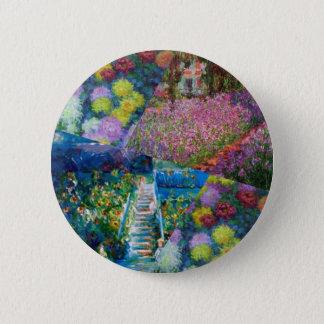 Flowers in Monet's garden are unique 2 Inch Round Button