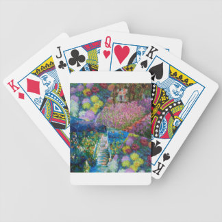 Flowers in Monet's garden are unique Bicycle Playing Cards