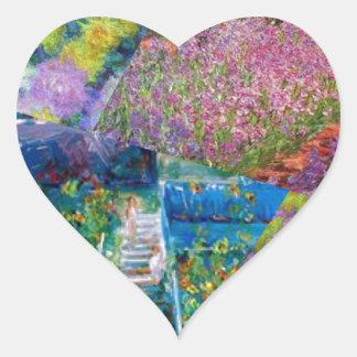Flowers in Monet's garden are unique Heart Sticker