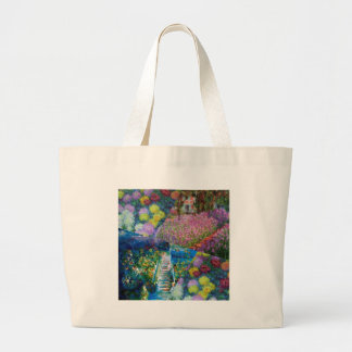 Flowers in Monet's garden are unique Large Tote Bag