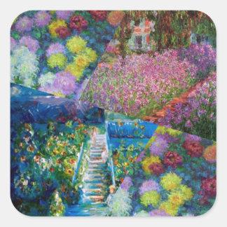 Flowers in Monet's garden are unique Square Sticker