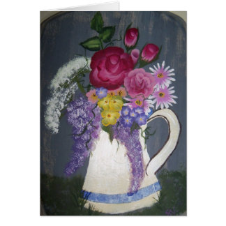 """Flowers in Pitcher"" Card"