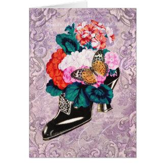 Flowers in Shoe Card