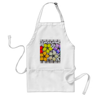 Flowers in Silver - A Mosaic Inspired Collection Standard Apron