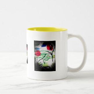 """Flowers in Springtime"" Two-Tone Coffee Mug"
