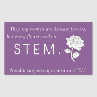 Flowers in STEM Sticker