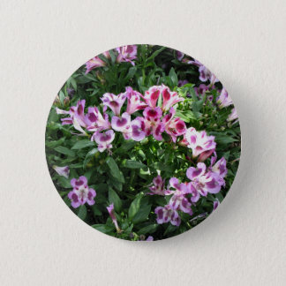 flowers in the garden 2 inch round button