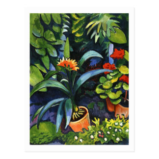 Flowers in the Garden by August Macke Postcard