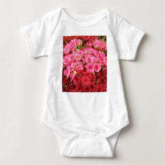 Flowers in the Philippines, pink and red roses Baby Bodysuit