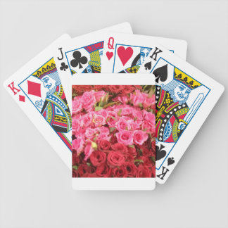 Flowers in the Philippines, pink and red roses Bicycle Playing Cards