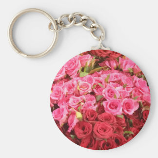 Flowers in the Philippines, pink and red roses Keychain