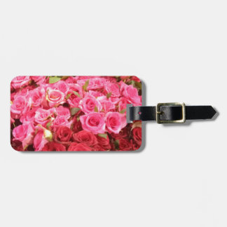Flowers in the Philippines, pink and red roses Luggage Tag