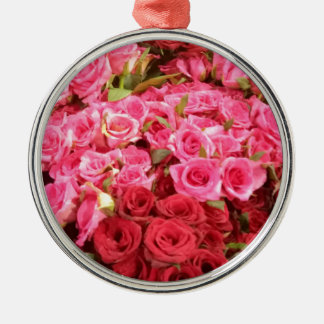 Flowers in the Philippines, pink and red roses Metal Ornament