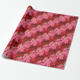 Flowers in the Philippines, pink and red roses Wrapping Paper