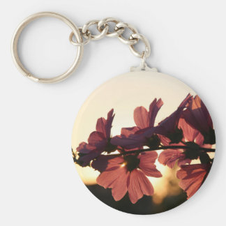 Flowers in the Sunset Basic Round Button Keychain