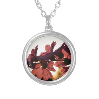 Flowers in the Sunset Silver Plated Necklace