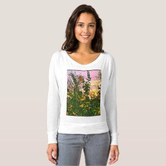 Flowers in the Sunset Women's Long Sleeve Tee