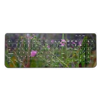 Flowers in The Swamp Wireless Keyboard