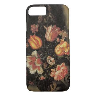Flowers in Vase, Vintage Baroque Floral Still Life iPhone 7 Case