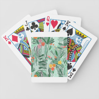 Flowers Indonesia ethno design Bicycle Playing Cards