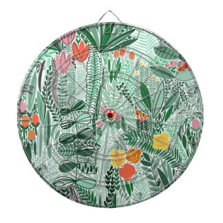 Flowers Indonesia ethno design Dartboard