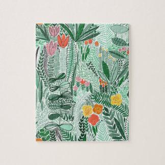 Flowers Indonesia ethno design Jigsaw Puzzle