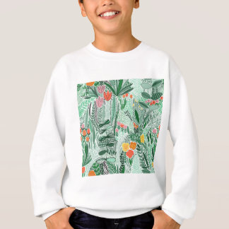 Flowers Indonesia ethno design Sweatshirt