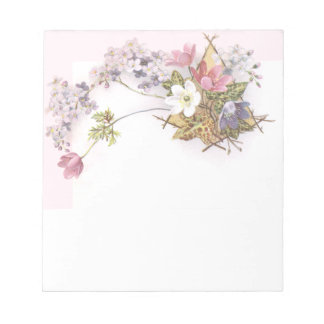 Flowers & Ivy Victorian Trade Card Notepad