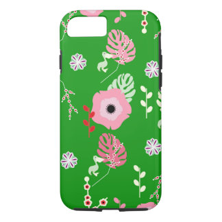 Flowers, leaves and little pelicans Case-Mate iPhone case