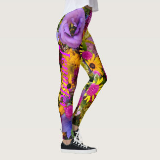 Flowers Leggings Running Pants Jogging Tights