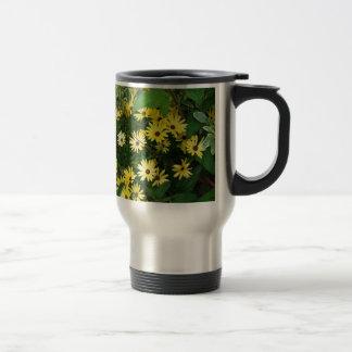 Flowers like little yellow stars travel mug