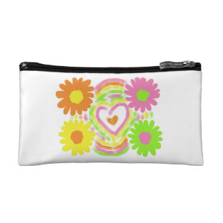 Flowers Makeup Bag
