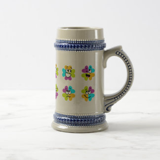 Flowers Making Funny Faces Stein Mug