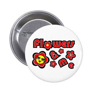 Flowers & Me Pin