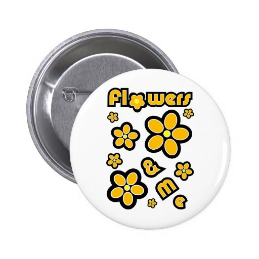 Flowers & Me Buttons