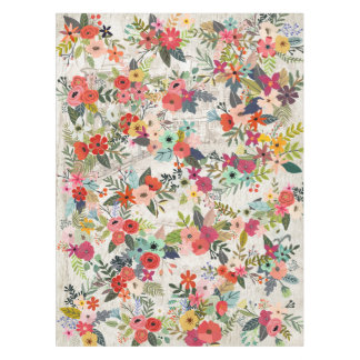 Flowers Mix Watercolor Painting Tablecloth