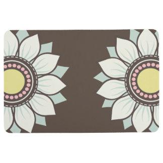 Flowers Modern Floral Pattern Floor Mat