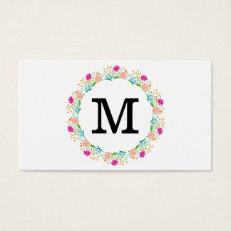 Flowers | Monogram 2 Business Card