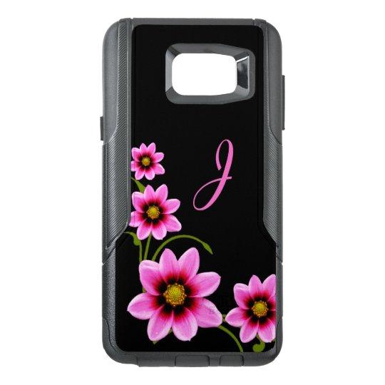Flowers Monogrammed Otterbox Samsung Note 5 Case