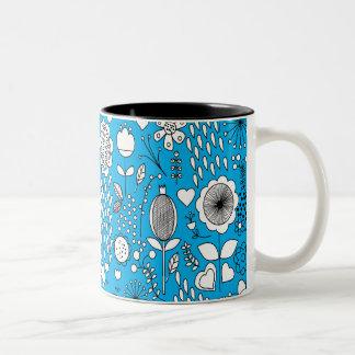 Flowers Mug in blue