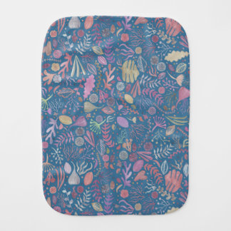 Flowers multicoloured smooth watercolors burp cloth
