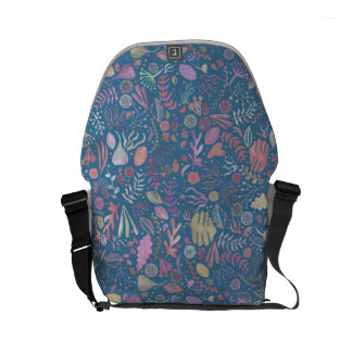 Flowers multicoloured smooth watercolors courier bags