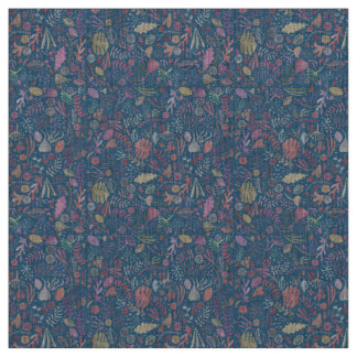 Flowers multicoloured smooth watercolors fabric