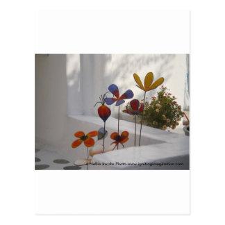 Flowers-Mykonos, Greece Postcard